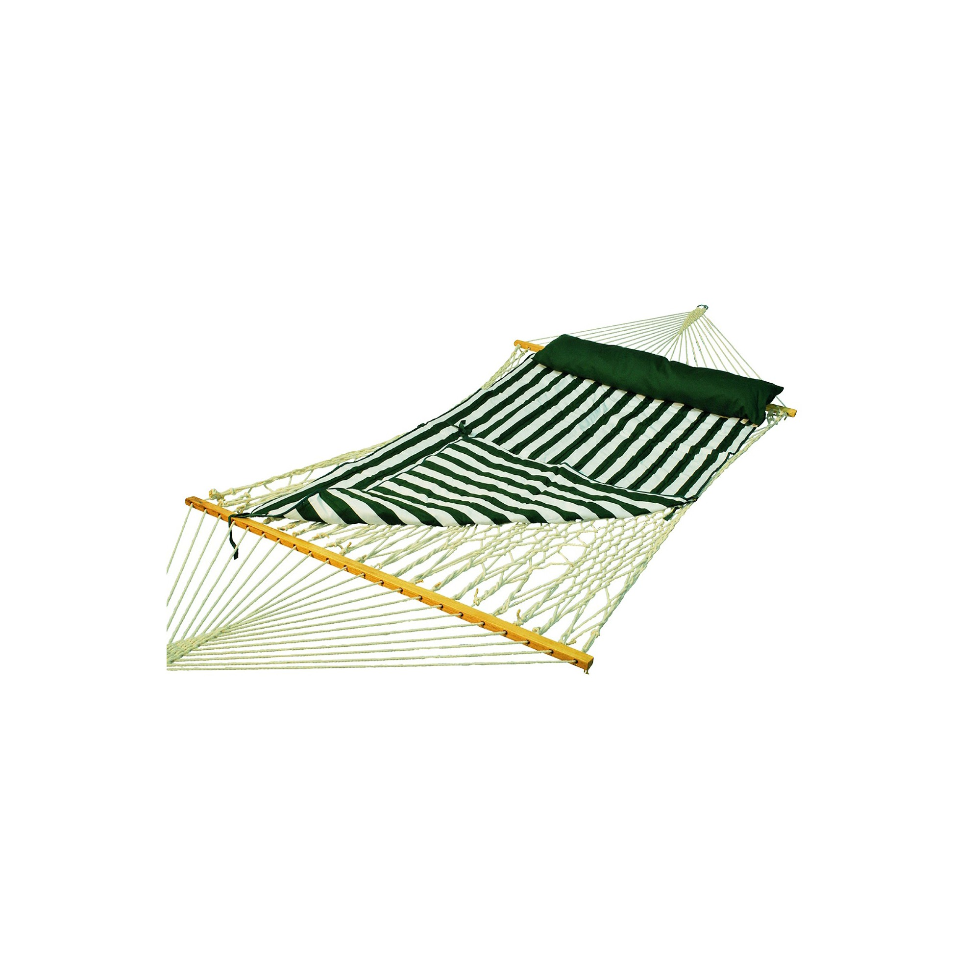 Deluxe Double Rope-Hammock with Pad - Natural