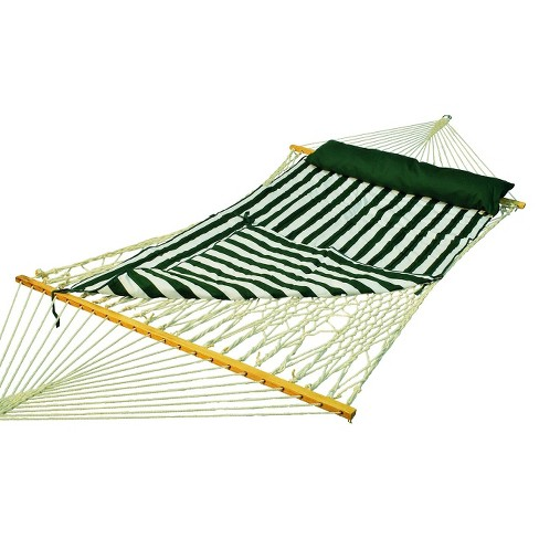 Deluxe Double Rope-Hammock with Pad - Natural - image 1 of 1