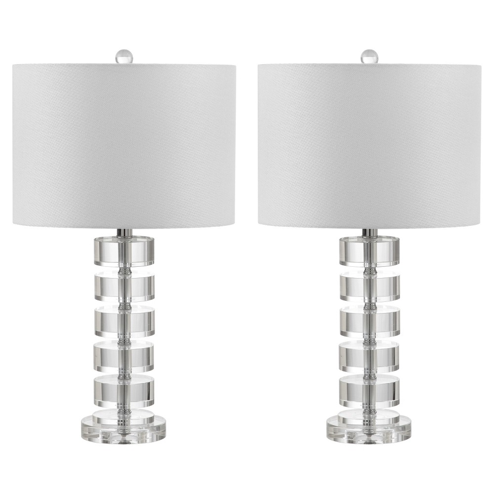 Image of Frances Clear Crystal Table Lamp Set of 2 - Safavieh