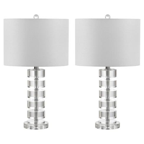 Frances Clear Crystal Table Lamp Set Of 2 Safavieh Target