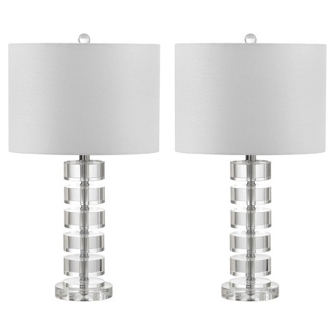 Frances Clear Crystal Table Lamp Set Of 2 Safavieh Target