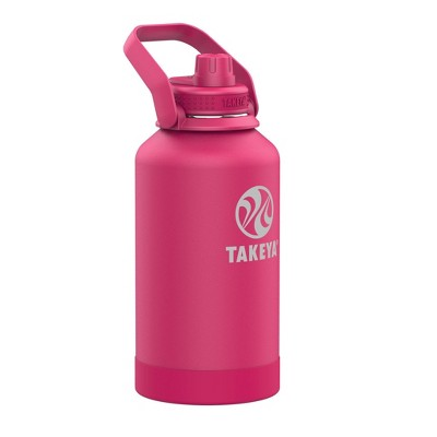 Takeya 64oz Actives Insulated Stainless Steel Water Bottle with Sport Spout Lid and Extra Large Carry Handle