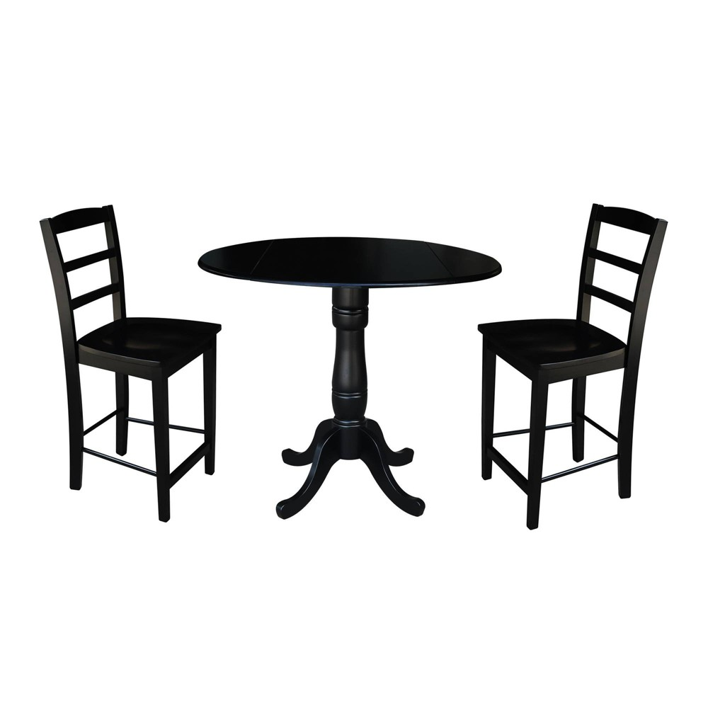 Miraculous 355 Round Pedestal Gathering Height Table With 2 Counter Ibusinesslaw Wood Chair Design Ideas Ibusinesslaworg