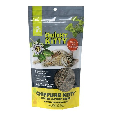 Quirky Kitty Chippurr Kitty North American Catnip with Passionflower Blend Cat Treats - 0.5oz