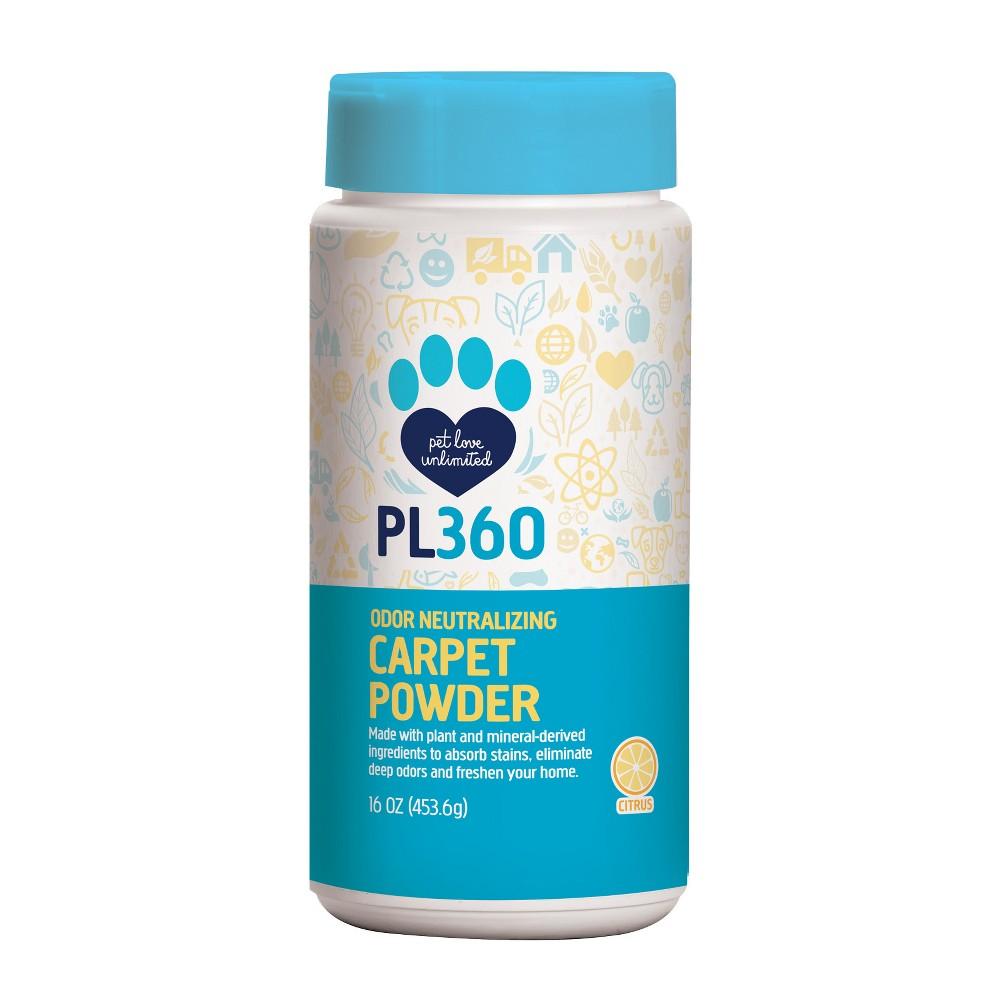 PL360 Odor Neutralizing Carpet Powder, Citrus 16oz, White