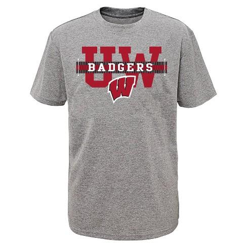 NCAA Wisconsin Badgers Boys' Short Sleeve Performance T-Shirt - image 1 of 1