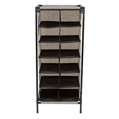 Simplify 12 Section Shoe Organizer Black