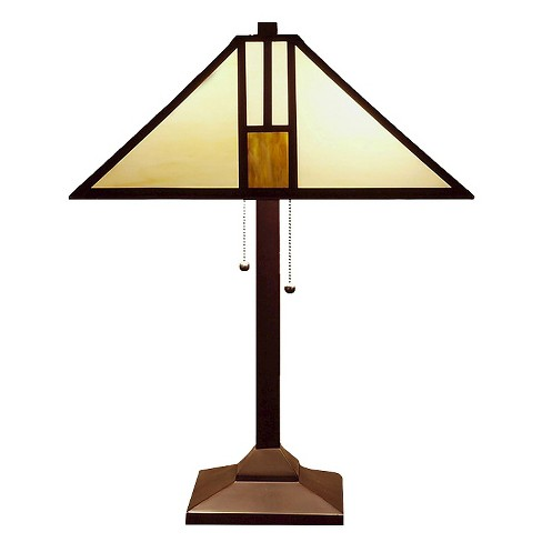 Tiffany Style White Mission-style Table Lamp - image 1 of 2