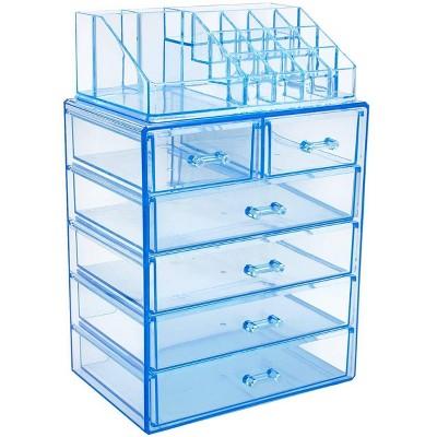 Sorbus Makeup Storage Case - Style 1 - Blue