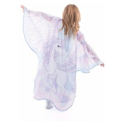 Little Adventures Girls' Novelty Unicorn Wings - S/M, Size: Small/Medium, MultiColored