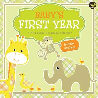 Undated TF Publishing Wall Calendar - Baby's First Year Plaid