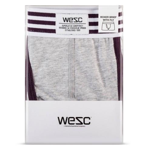 WeSC - Men's 1 Pk Stripe Boxer Briefs - Blue Iris S - image 1 of 1