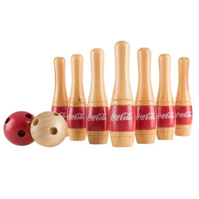 Hey! Play! Coca Cola Lawn Bowling Game with Mesh Bag