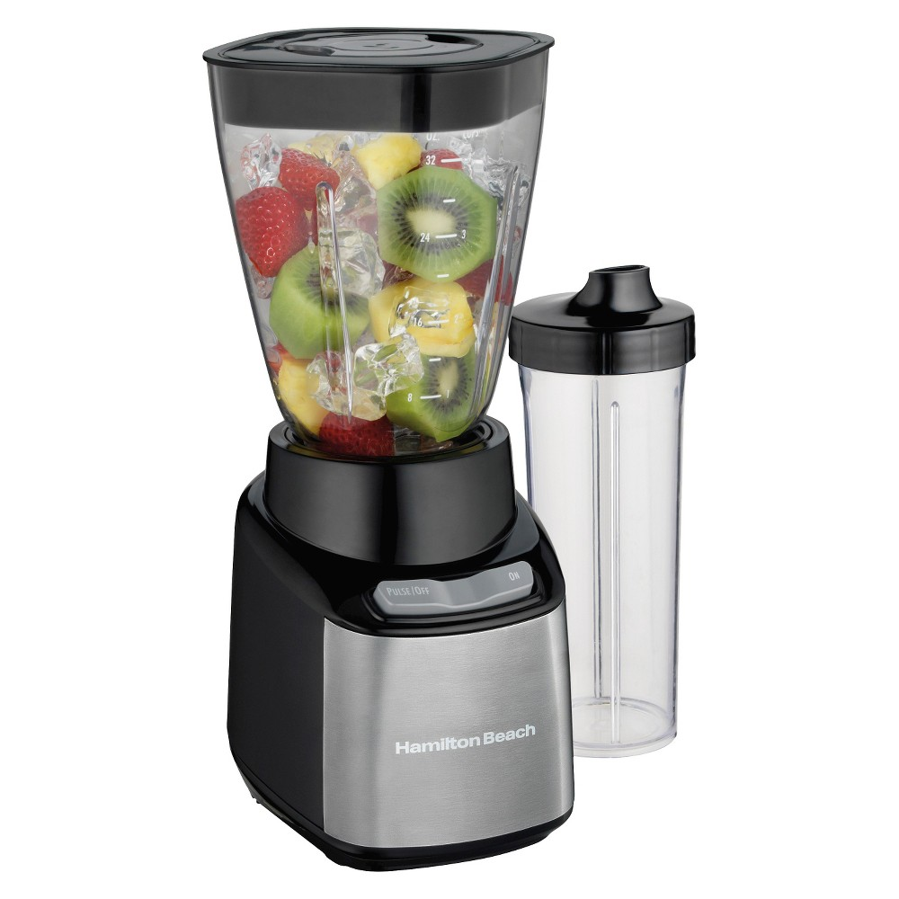 Hamilton Beach Stay or Go 2 Jar Blender System – Black 52401, Black & Stainless 15632680