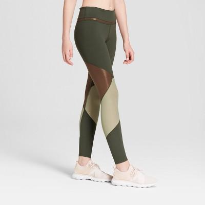 e395ec8a341305 Women's Premium 7/8 Shine and Mesh Pieced High-Waisted Leggings - JoyLab™