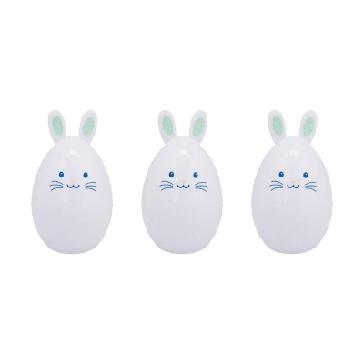 3ct Shaped Bunny Character  Easter Plastic Eggs - Spritz™