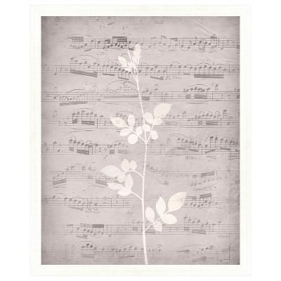 Music Leaves Ii 18X22 Wall Art