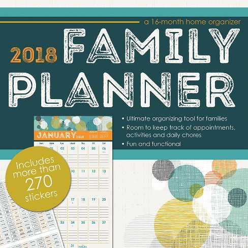 2018 family planner (with bonus sticker sheet) wall calendar