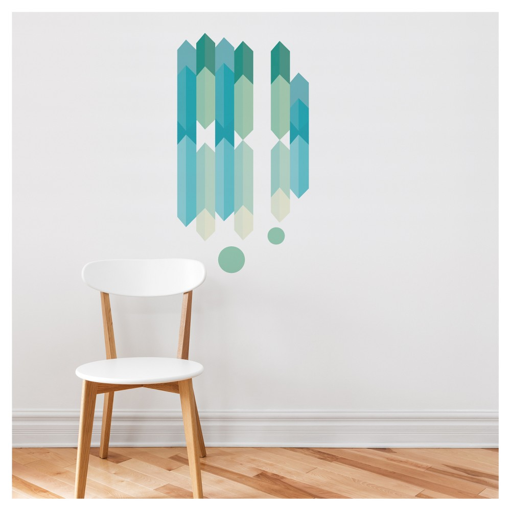 """Image of 38""""x21"""" Wall Decal - ADzif, Multi-Colored"""