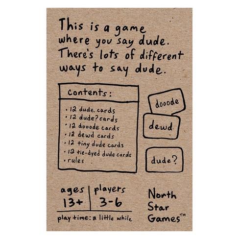 Dude Card Game : Target