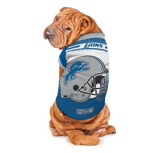 Detroit Lions Little Earth Pet Performance Football T-Shirt - Blue M 84eee30e6