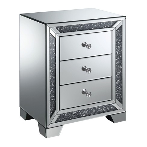 Allen 3 Drawer Side Table Silver - ioHOMES - image 1 of 4