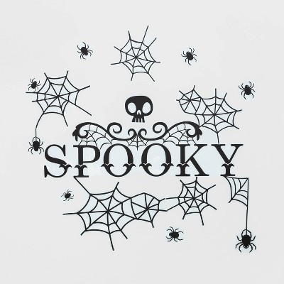 """Spiders and Webs Halloween Wall Art (27.75""""x9.75"""") - Hyde & EEK! Boutique™"""