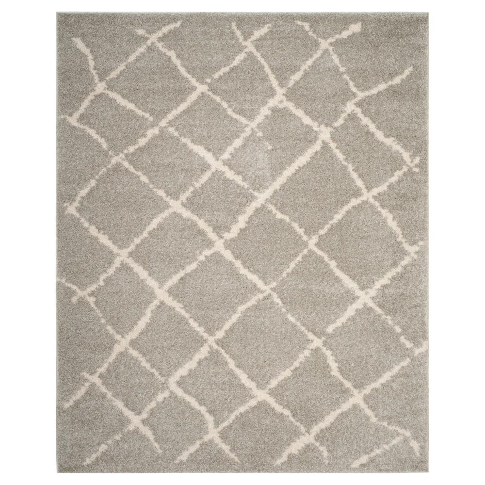 Light Gray Trellis Loomed Area Rug 8'x10' - Safavieh