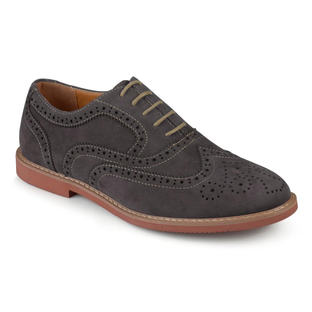 Men's Vance Co. Lantz Faux Suede Lace-up Oxford Dress Shoes - Gray 10.5