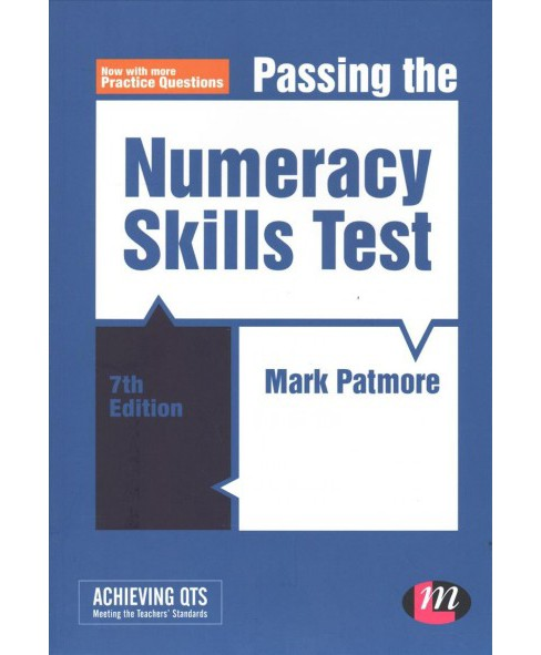 Passing the Numeracy Skills Test -  (Achieving Qts) by Mark Patmore (Paperback) - image 1 of 1