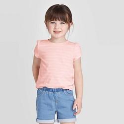 Toddler Girls' Short Sleeve Striped T-Shirt - Cat & Jack™ Pink