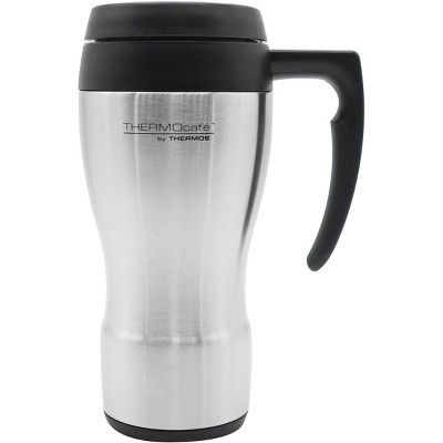 Thermos 16 oz. ThermoCafe Stainless Steel Travel Mug - Stainless Steel/Black