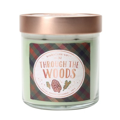 15.2oz Large Lidded Jar 2-Wick Candle Through The Woods - Signature Soy