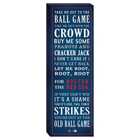"""Boston Red Sox """"Take Me Out To The Ballgame"""" Canvas - image 1 of 1"""