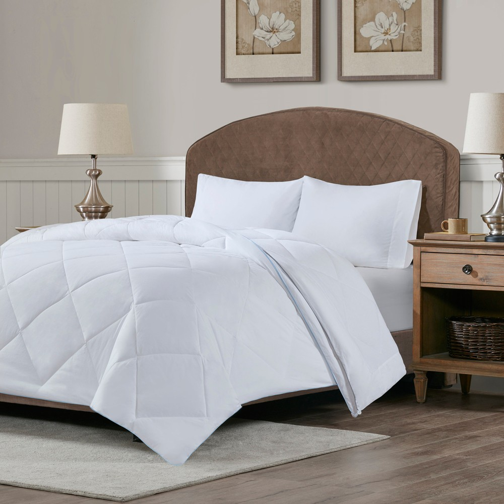 King Cooling and Warm Reversible Cotton Comforter White