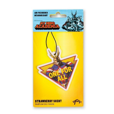 Just Funky My Hero Acadamia  Double Sided All Might Air Freshener - Strawberry Scent
