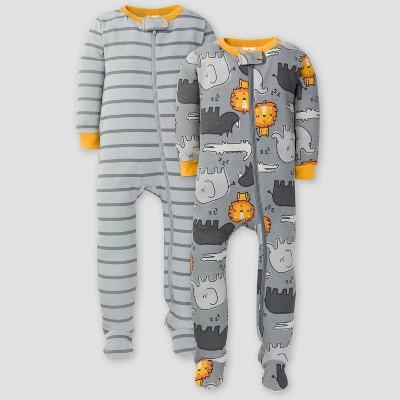 Gerber Baby Boys' 2pk Lion Union Suit - Gray 3-6M