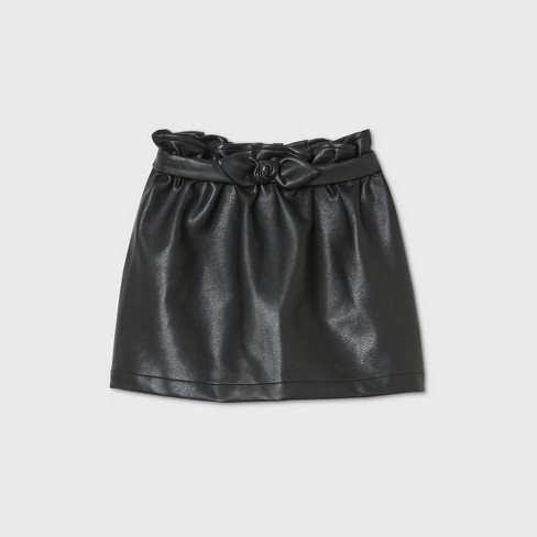 Toddler Girls' Faux Leather Skirt - art class™ Black - image 1 of 2