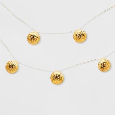 25ct Outdoor LED Fairy Lights Mini Gold Orbs - Opalhouse™