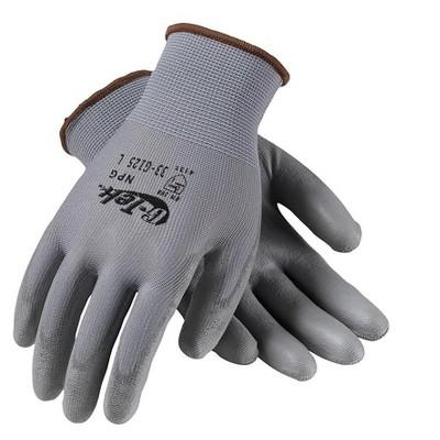G-Tek GP Polyurethane Coating Nylon Gloves, Gray 33-G125/L