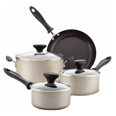 Farberware Reliance Aluminum Nonstick 12 piece Cookware Set - Champagne
