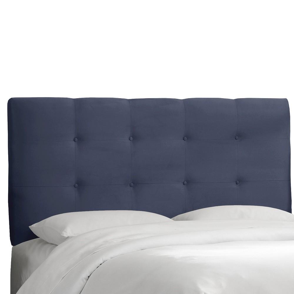 Dolce Microsuede Headboard - Premier Lazuli Blue - King - Skyline Furniture