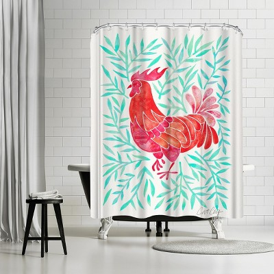 """Americanflat Lecoq Mint Leaves by Cat Coquillette 71"""" x 74"""" Shower Curtain"""