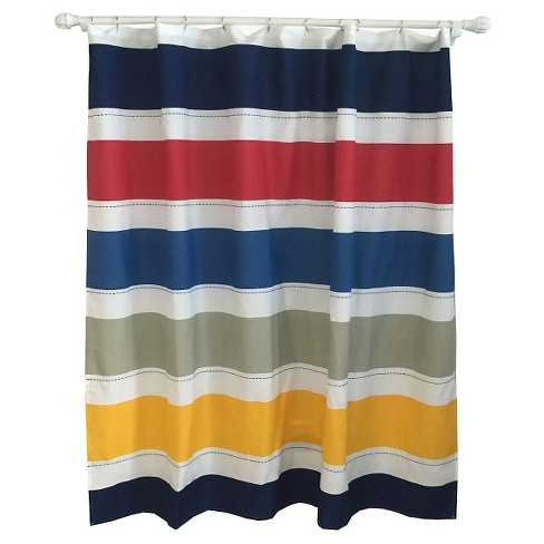 Warm Rugby Stripe Shower Curtain - Pillowfort™ - image 1 of 2