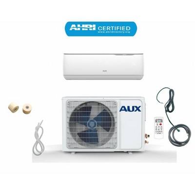 AUX 24000 BTU Ductless 17 SEER 230V 2 Ton 12' Line Set Wall Mount Mini Split Air Conditioner with Heat Pump