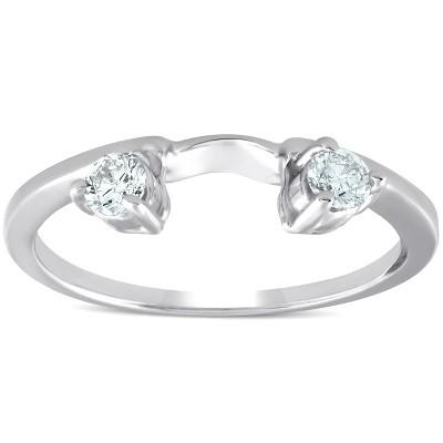 Pompeii3 1/4ct Diamond Engagement Ring Wedding Band Enhancer 14K White Gold