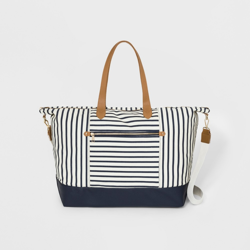 Striped Canvas Weekender Bag - A New Day Navy (Blue)