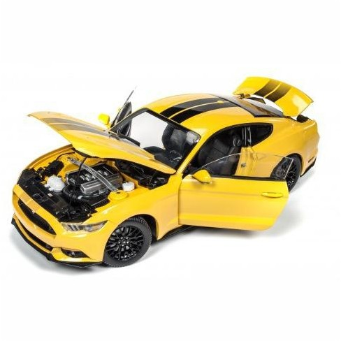 2016 Ford Mustang Gt 5 0 Yellow Limited Edition To 1002pcs 1 18 Cast Model Car By Autoworld Target