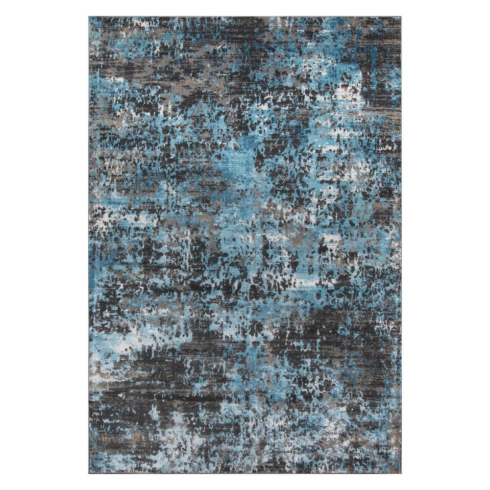 5'X7'6 Fleck Loomed Area Rug Charcoal (Grey) - Momeni