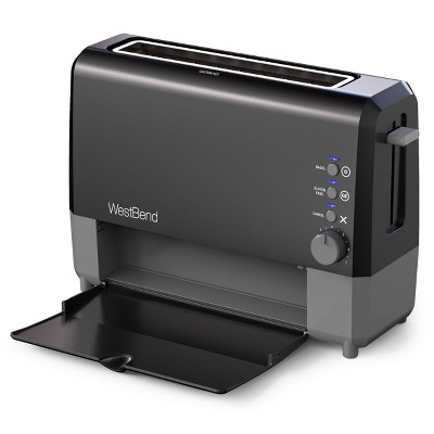 West Bend 2 Slice QuickServe Toaster - Black